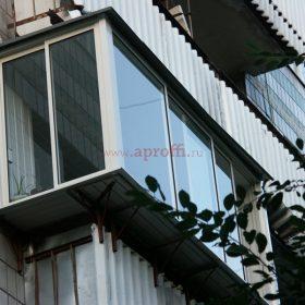 Финское остекление с выносом в 9-ти этажном доме