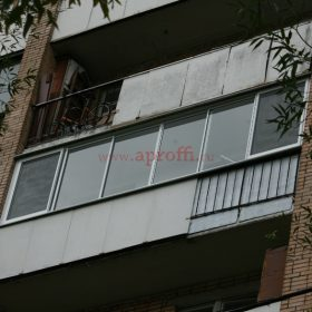 Финская система остекления балконов - Пример 7