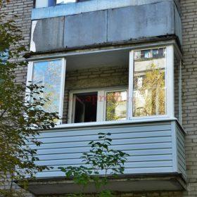 Остекление балкона алюминием 12