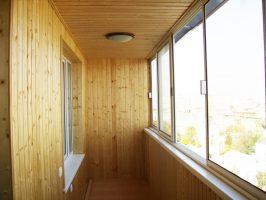 Финская система остекления - вид балкона изнутри