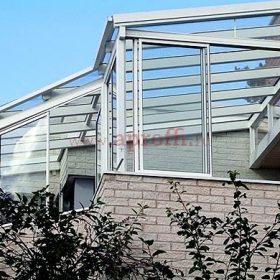 Раздвижные створки и прозрачная крыша