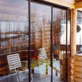 Терраса в деревянном доме